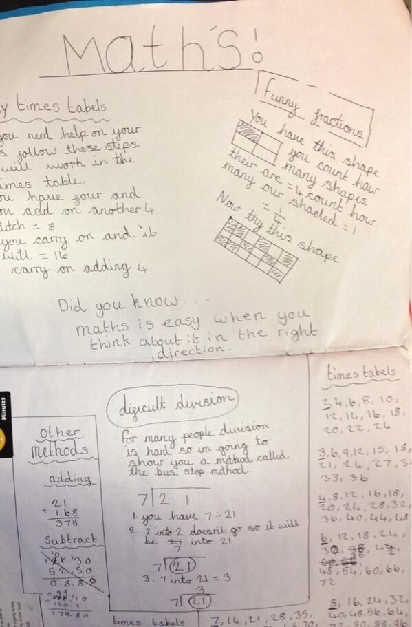 Year 6 Maths homework