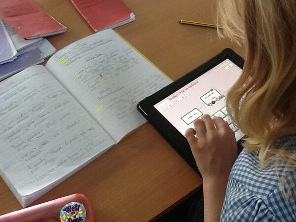 Using IPads to create a Non Fiction poster